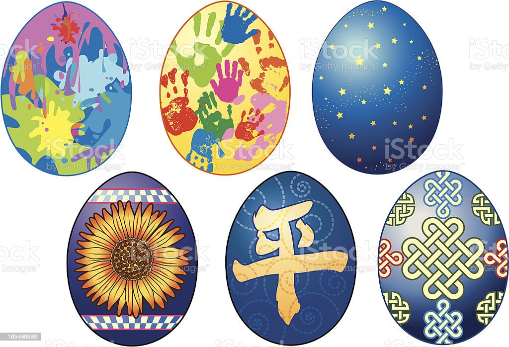 More Painted Eggs royalty-free more painted eggs stock vector art & more images of april