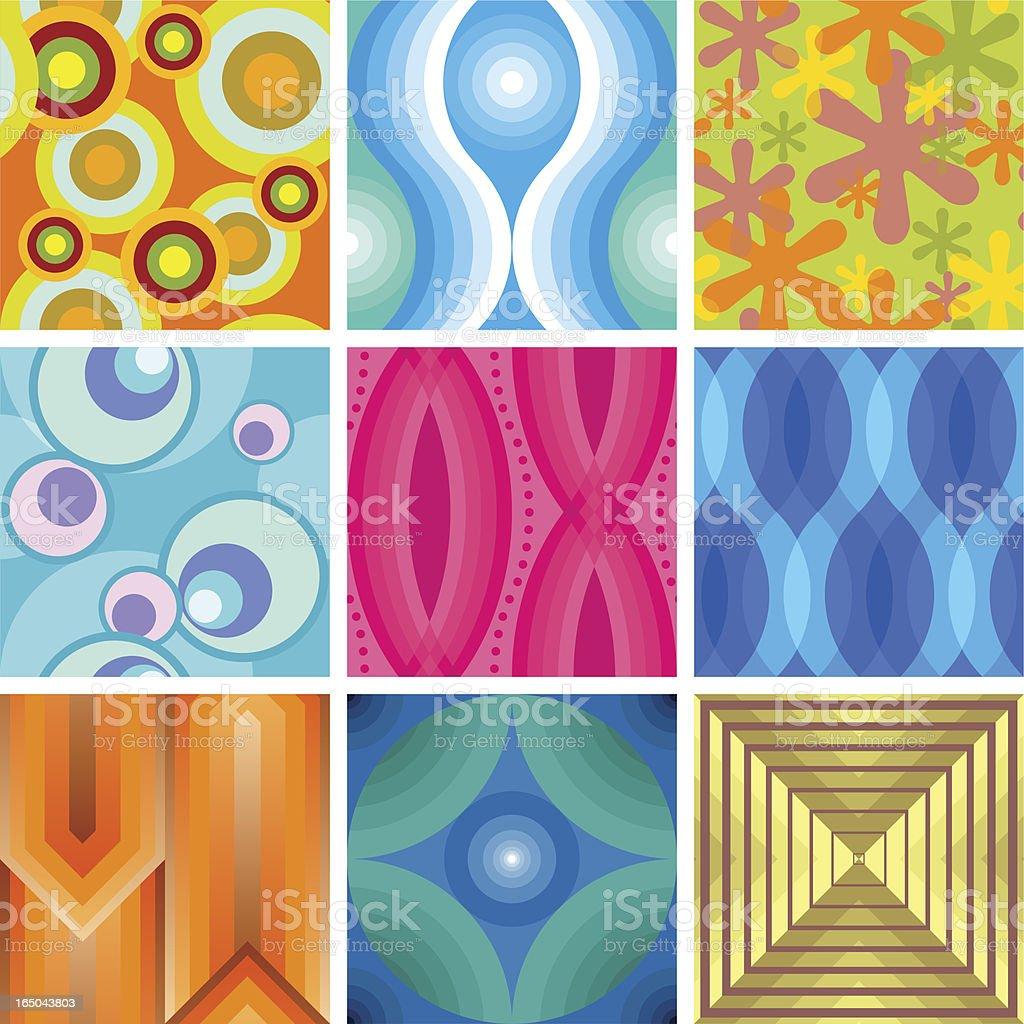 more seamless retro wallpaper tiles royalty-free stock vector art