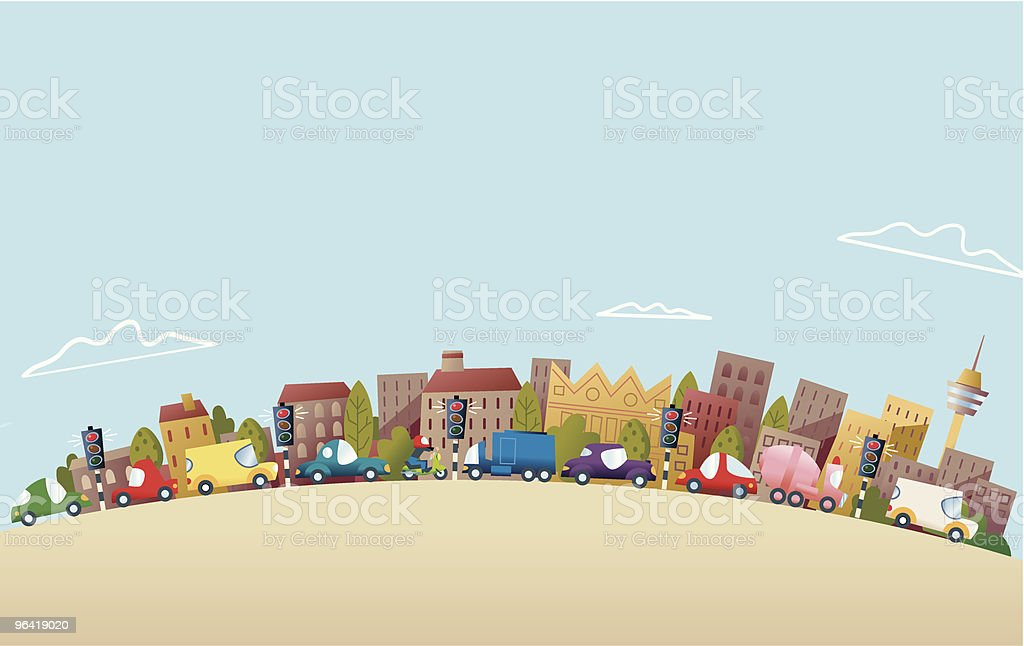 More Traffic royalty-free more traffic stock vector art & more images of architecture