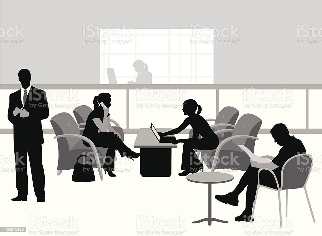 More Waiting Vector Silhouette royalty-free stock vector art