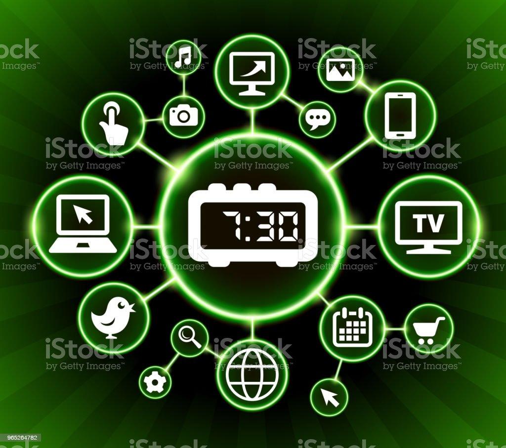 Morning Alarm Clock Internet Communication Technology Dark Buttons Background morning alarm clock internet communication technology dark buttons background - stockowe grafiki wektorowe i więcej obrazów alarm royalty-free