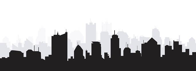 Morning City Skyline