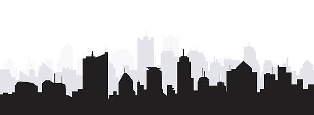 Morning City Skyline vector art illustration