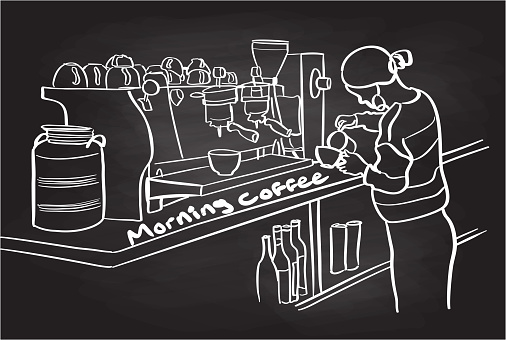 Morning Coffee Barrista Chalkboard