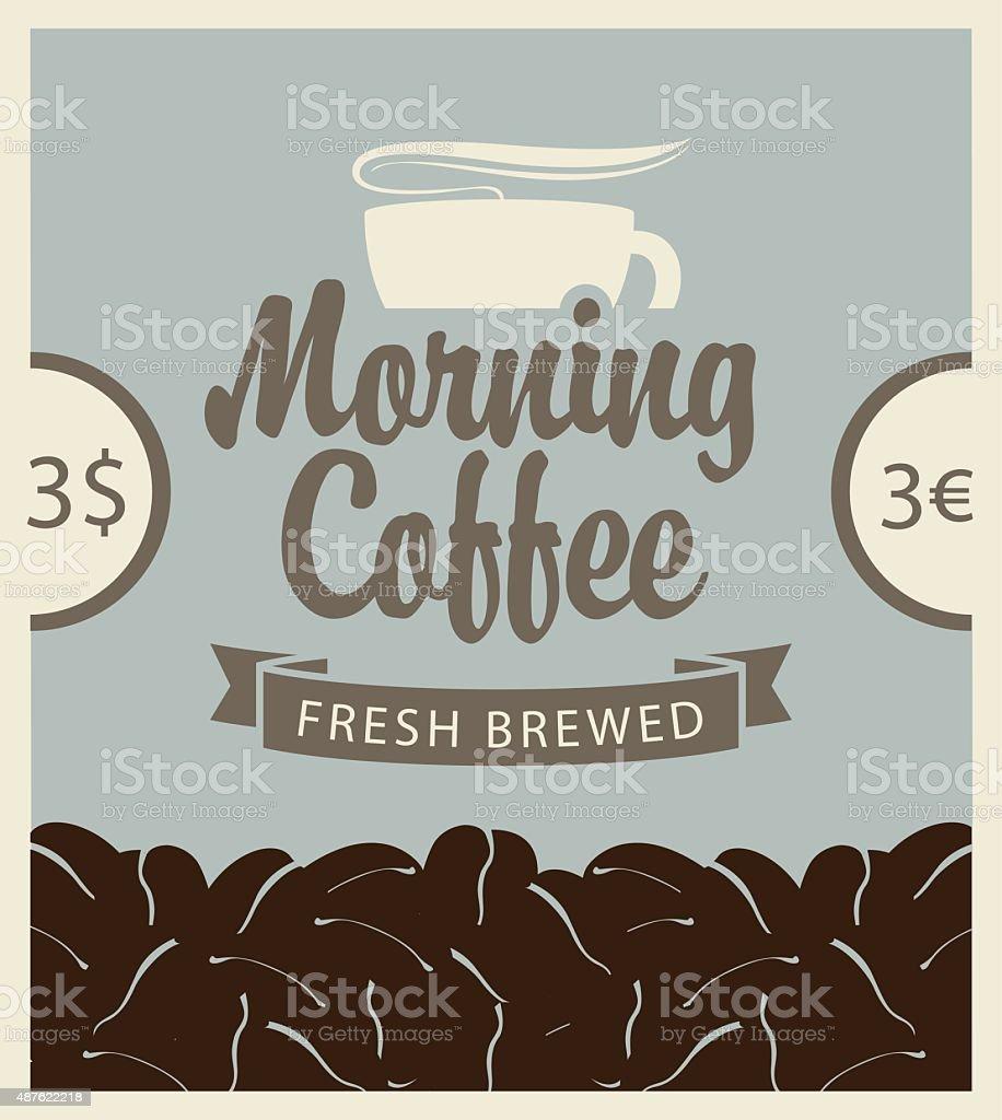 morning coffee vector art illustration