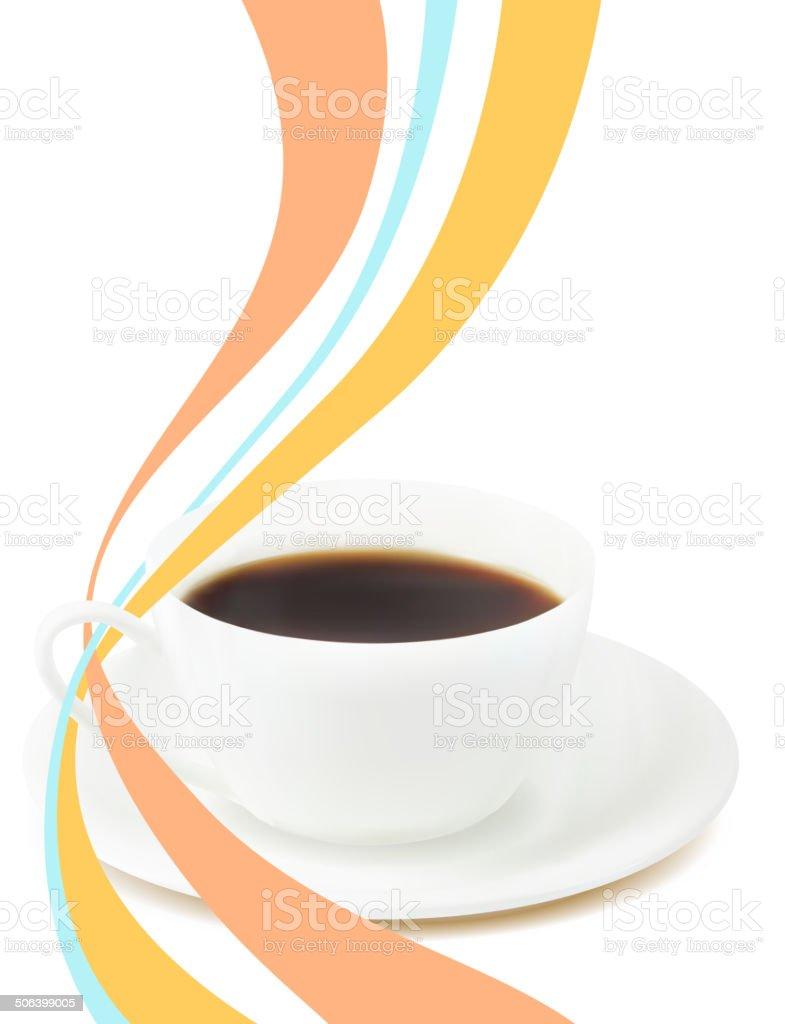 Morning coffee. vector art illustration
