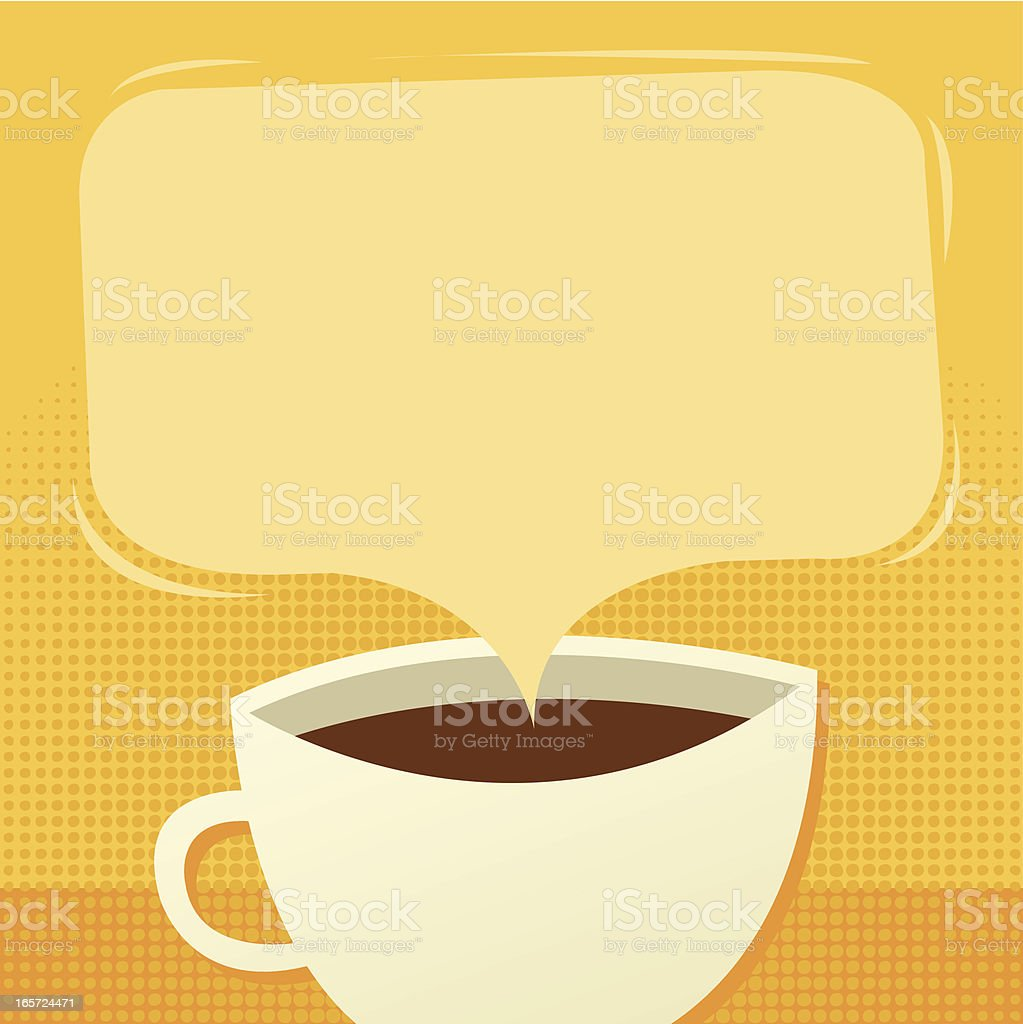 Morning Coffee with Copy Space royalty-free stock vector art