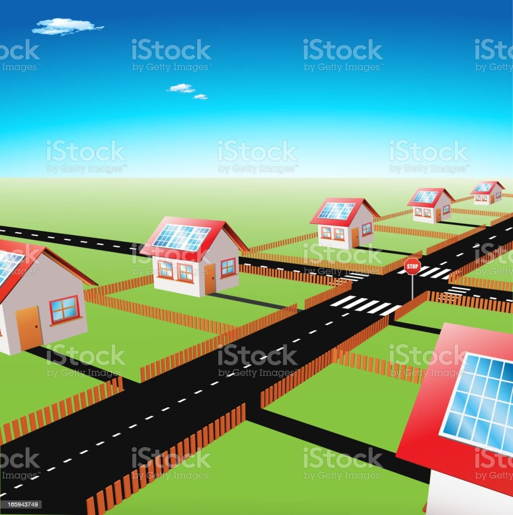 Morning in suburb royalty-free morning in suburb stock vector art & more images of alternative energy