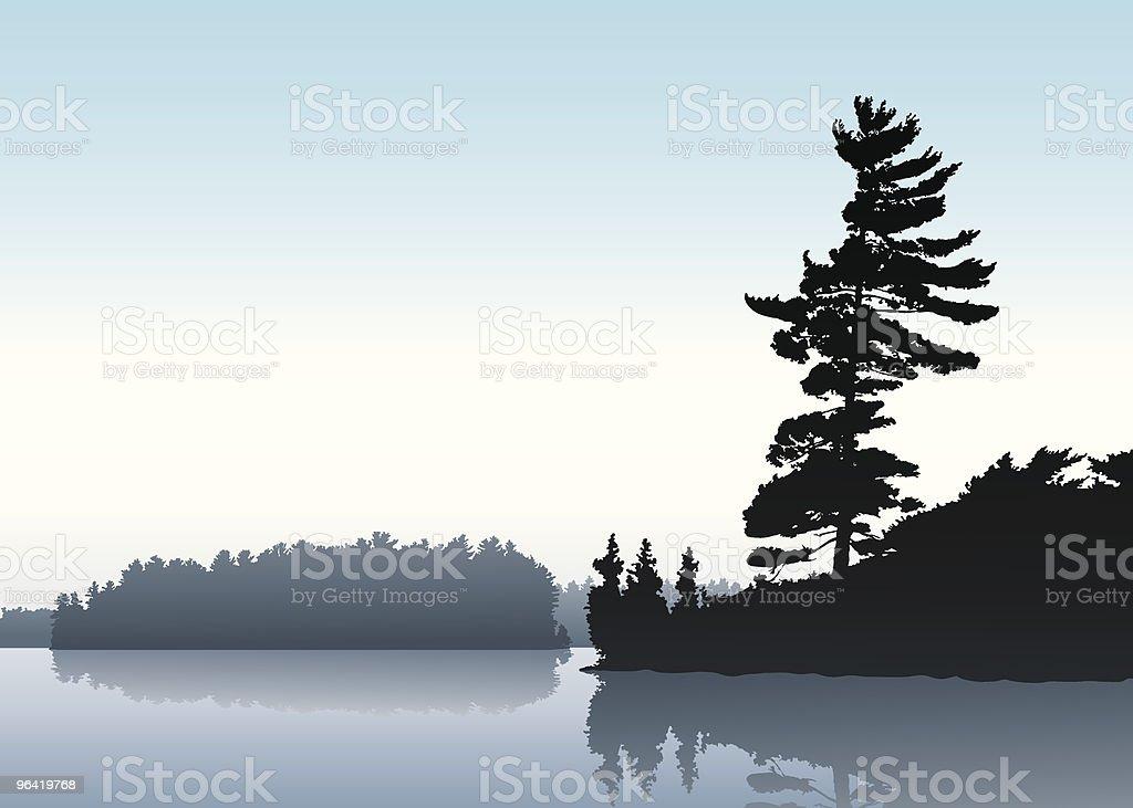 Morning Lake royalty-free stock vector art