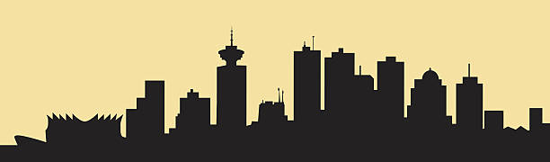 Morning Vancouver Skyline - Vector Morning Vancouver Skyline is a vector illustration. british columbia stock illustrations