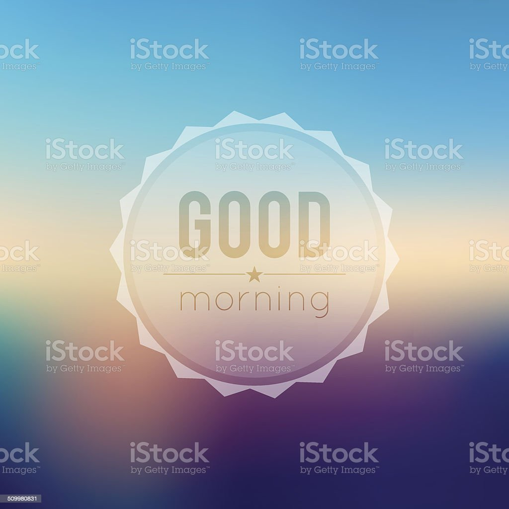 Morning vector art illustration