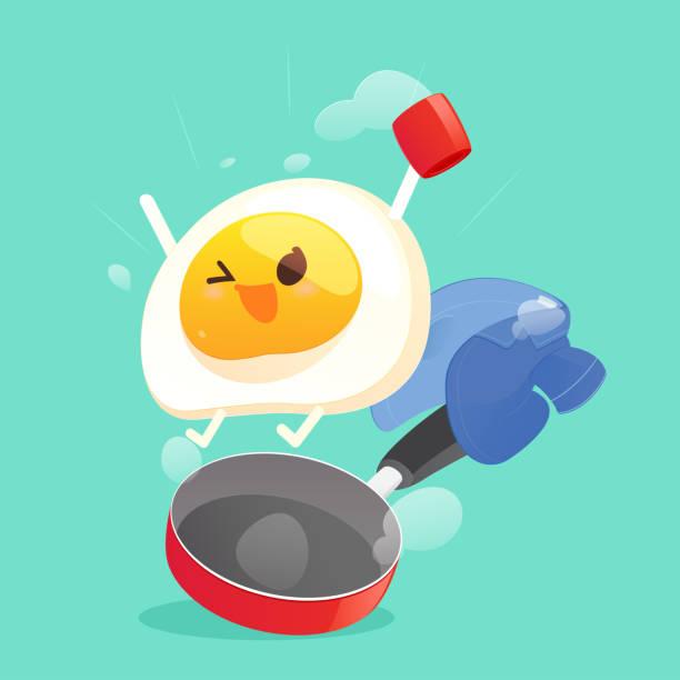 bildbanksillustrationer, clip art samt tecknat material och ikoner med morgon - frying pan