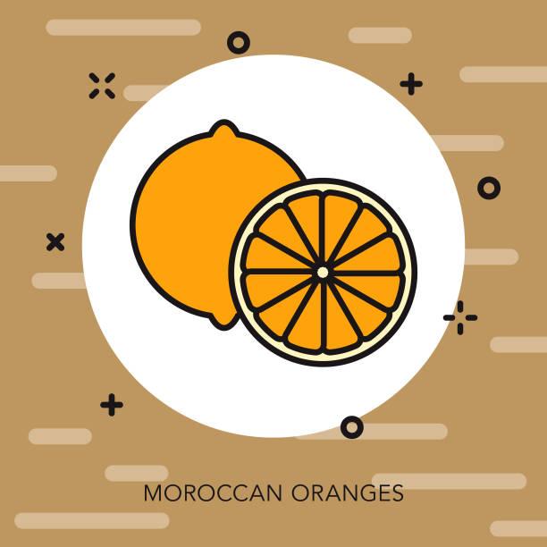 ilustrações de stock, clip art, desenhos animados e ícones de moroccan orange icon - mediterranean food