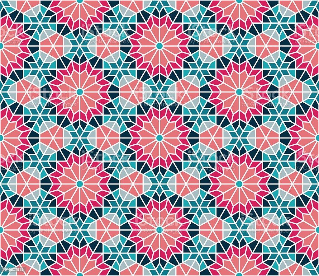 Moroccan Seamless Pattern vector art illustration