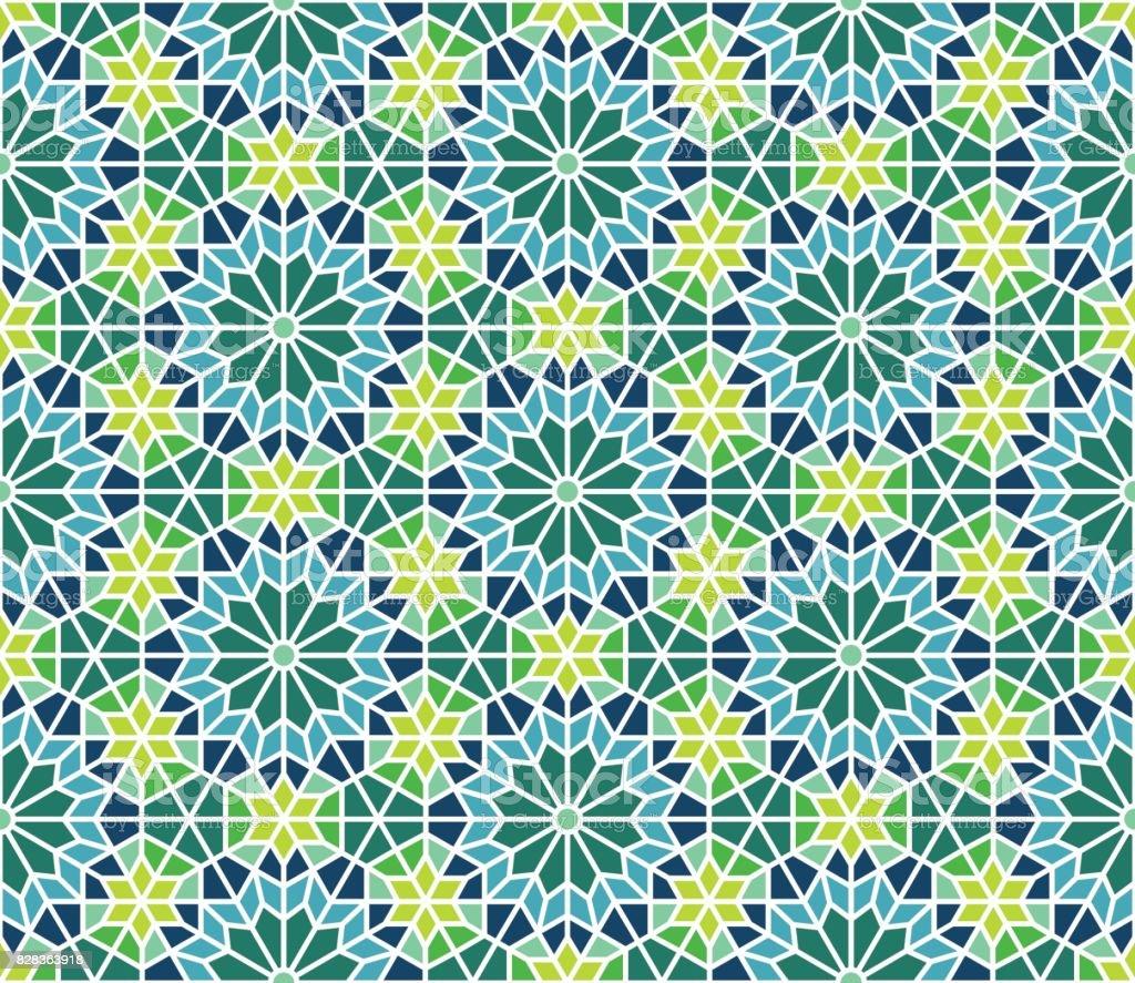 Moroccan Tile Pattern vector art illustration