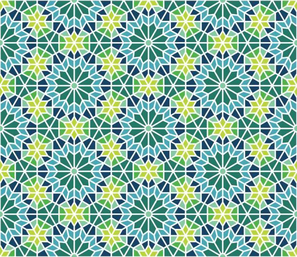 stockillustraties, clipart, cartoons en iconen met marokkaanse tegels patroon - turkse cultuur
