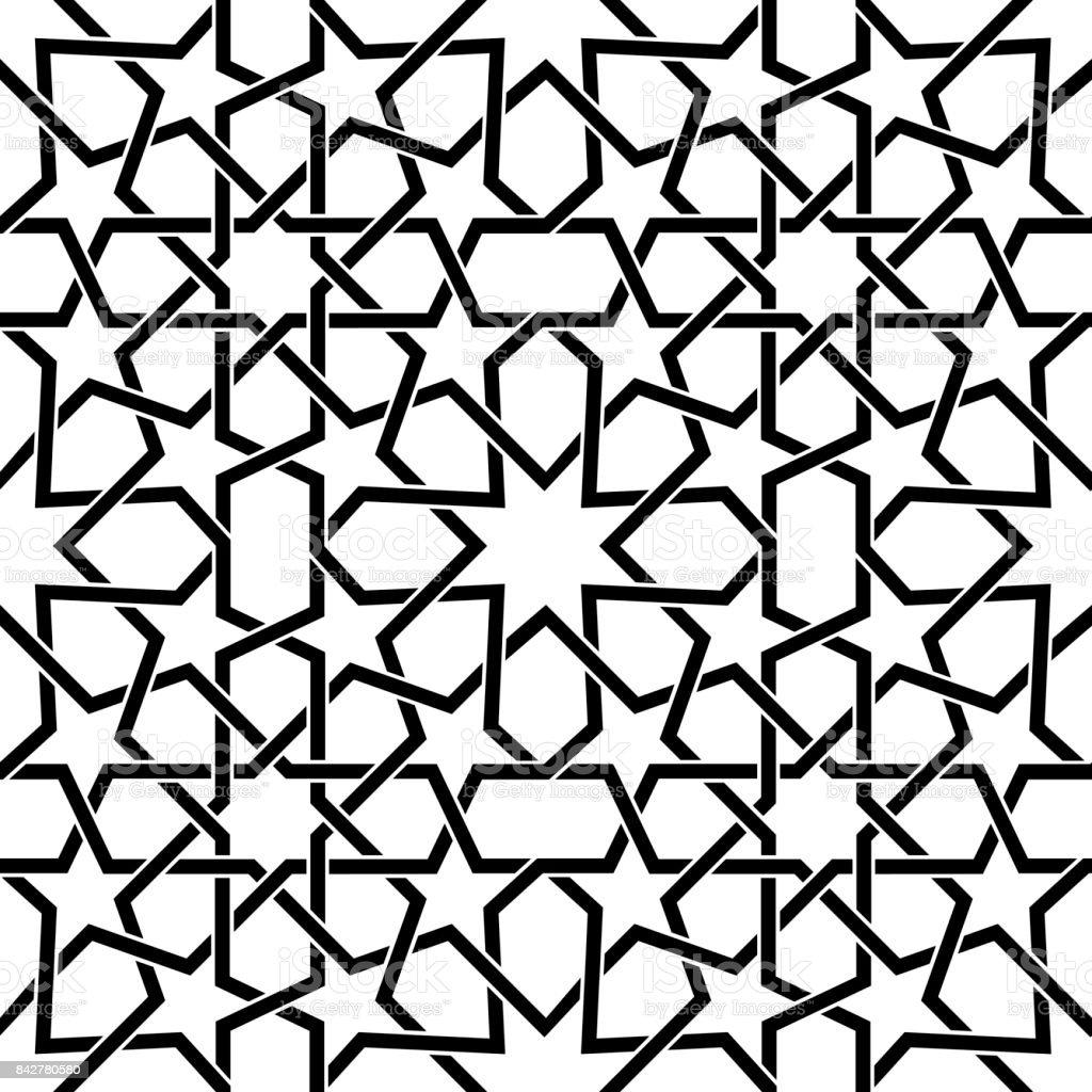 Marokkanische Fliesen Vektormuster Maurischen Nahtloses Design In - Fliesen maurisch