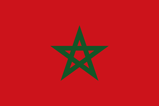 Morocco African Country Flag