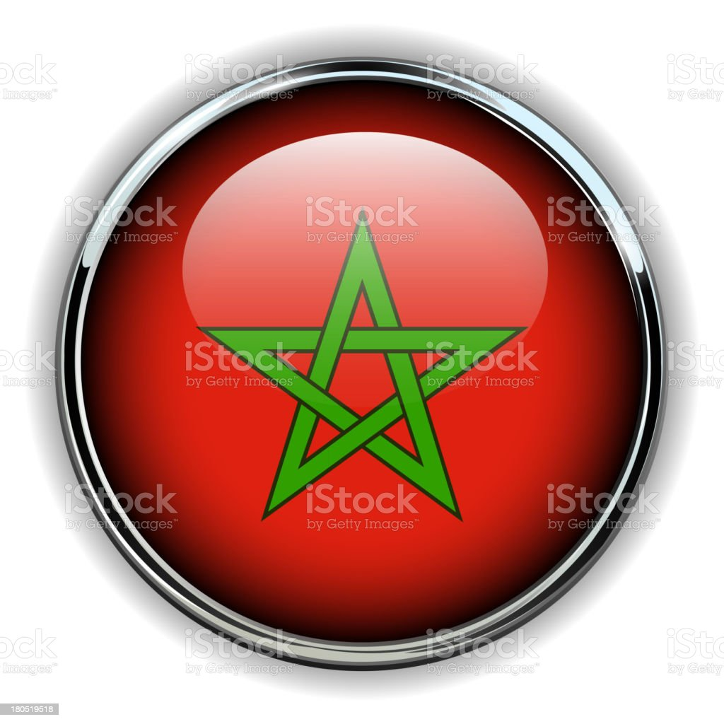 Morocco button royalty-free stock vector art