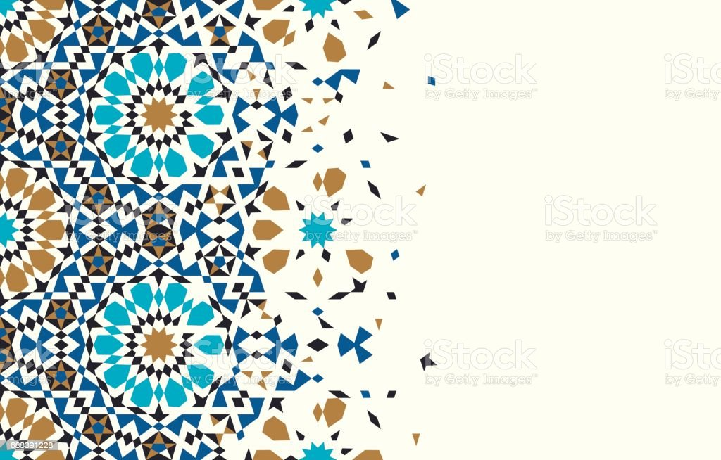 Morocco Disintegration Template. vector art illustration