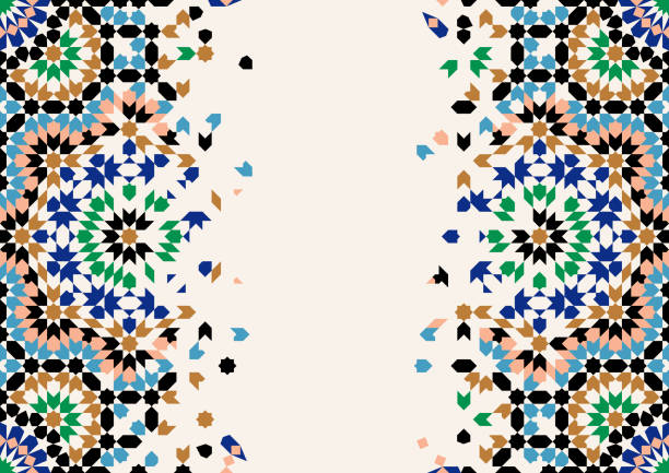 Morocco Disintegration Template. vector art illustration