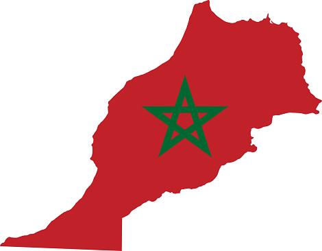 Morocco flag map