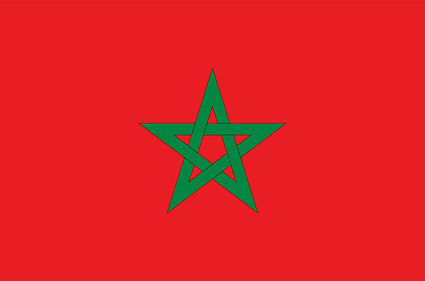 Morocco flag Flag of Morocco with element proportions correctly morocco stock illustrations