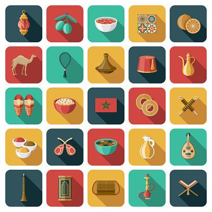 Morocco Icon Set