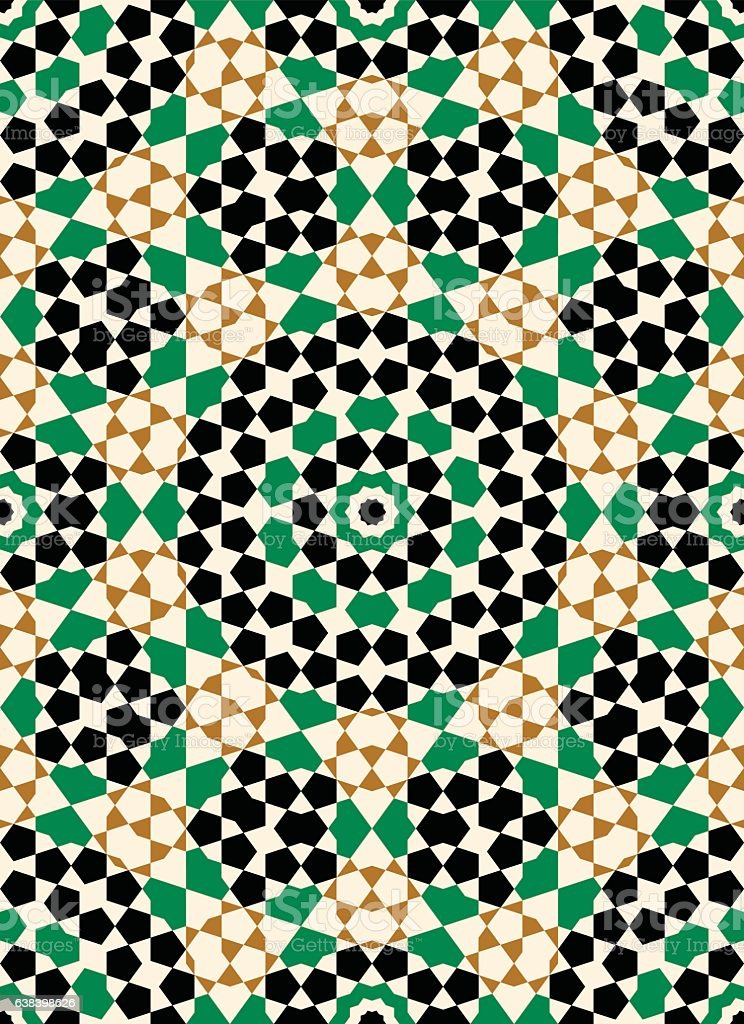 Morocco Seamless Pattern. Traditional Arabic Islamic Background. Mosque decoration element. vector art illustration