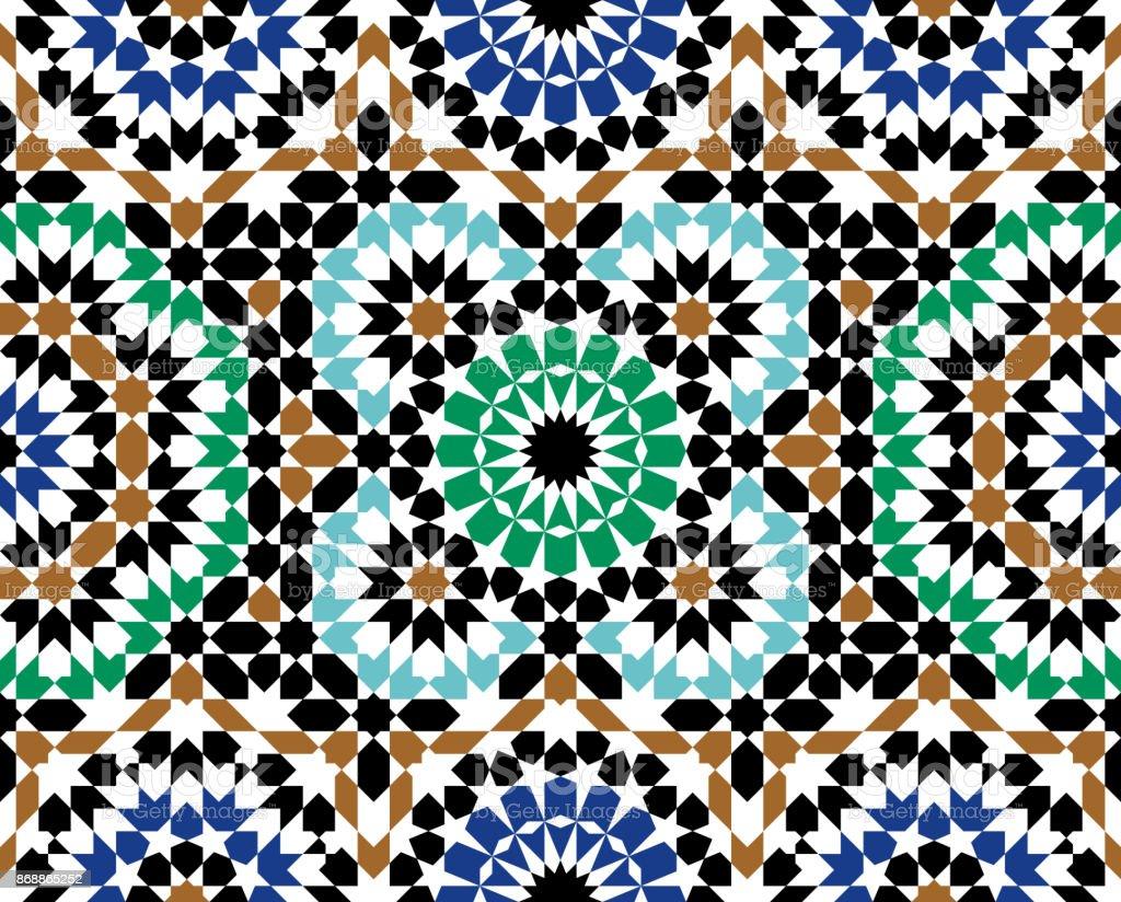 Morocco Seamless Pattern vector art illustration