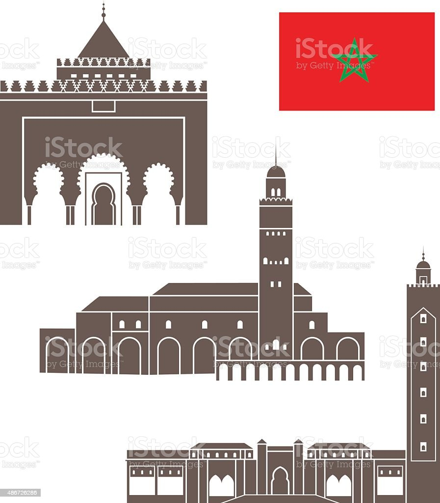 Morocco vector art illustration