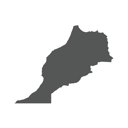 Morocco vector map.