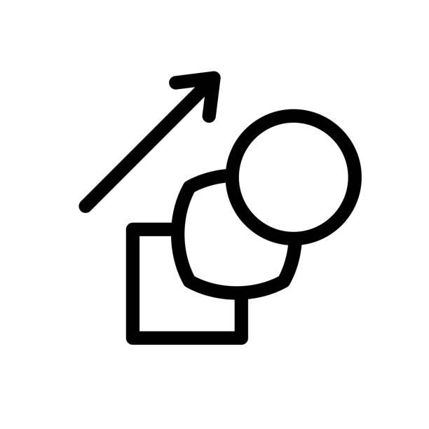morphing-shape-symbol. übergang geometrischer figuren. morphen sie ein objekt in ein anderes. einstellbare strichbreite. - morphing stock-grafiken, -clipart, -cartoons und -symbole