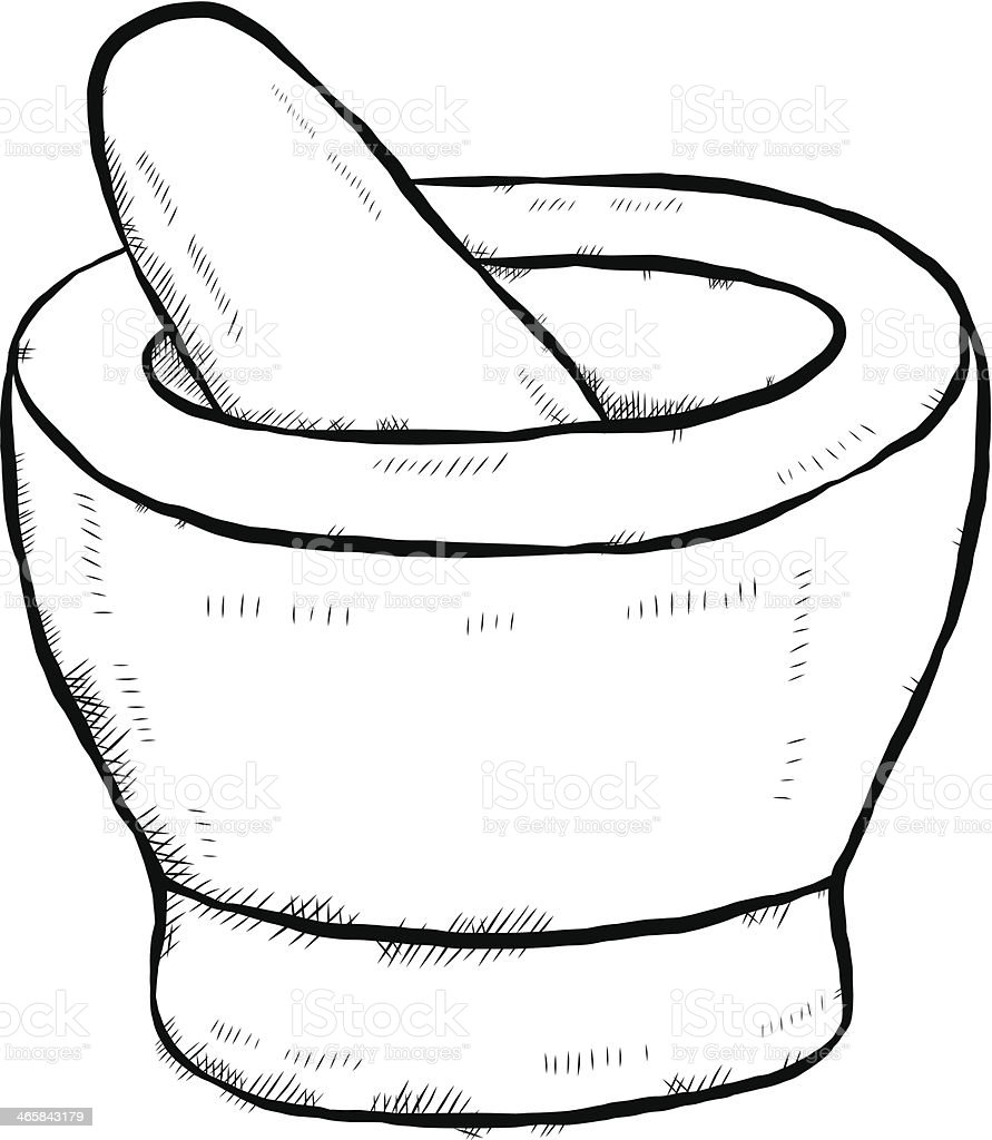 Mortar And Pestle Cartoon Stock Vector Art  for Mortar And Pestle Drawing  174mzq