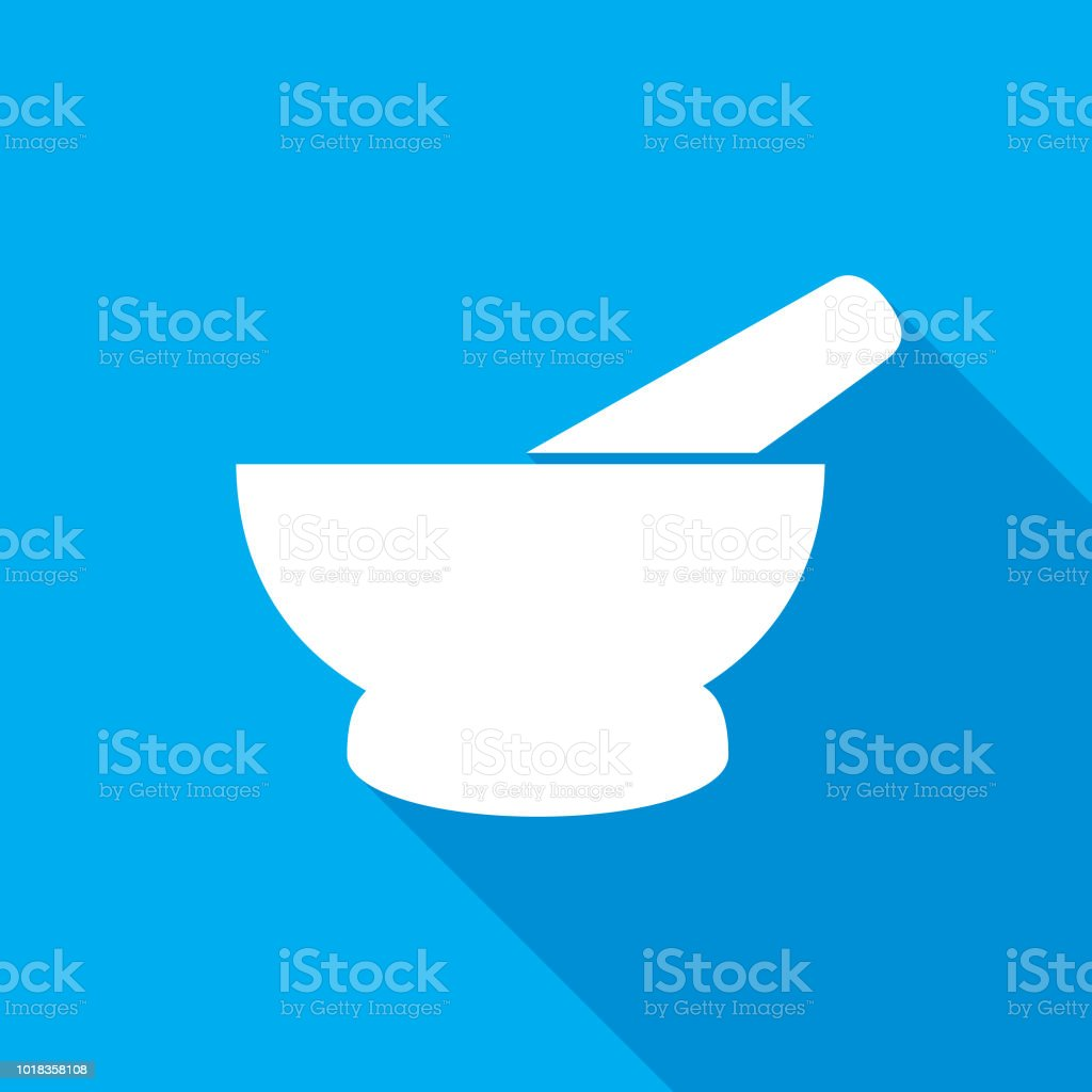 Mortar And Pestle Icon - Royalty-free Bowl stock vector