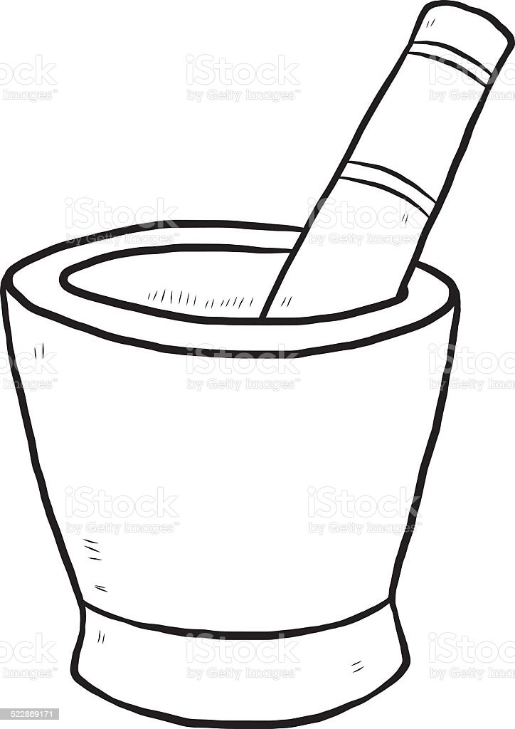 Mortar And Pestle Stock Illustration - Download Image Now ...