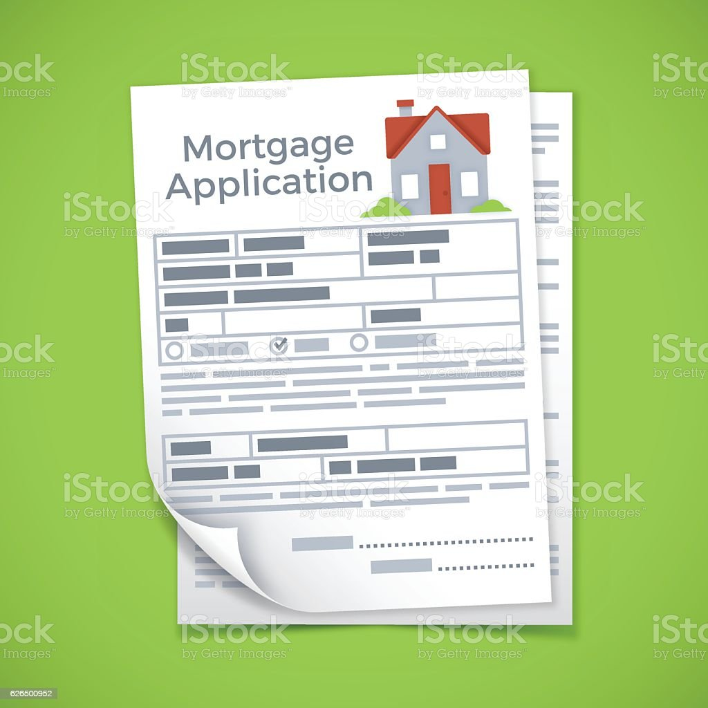 Mortgage Application Documents vector art illustration