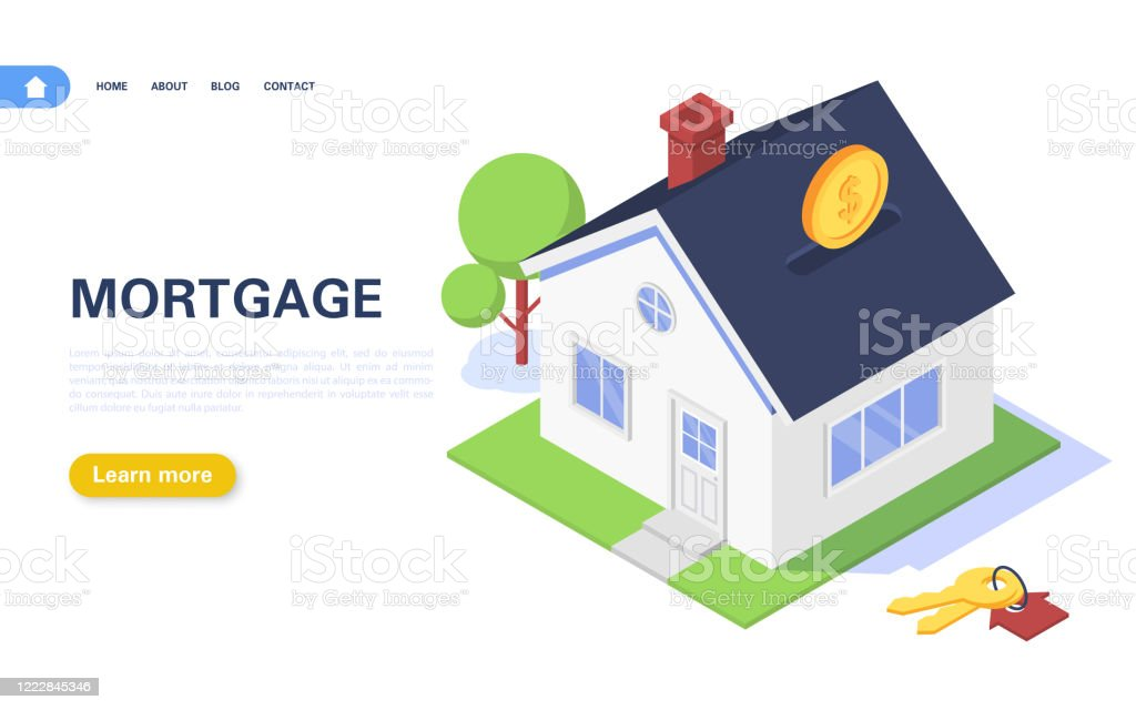 Mortgage Banner Concept Residential Building In The Form Of A Piggy Bank With Coins On A White Background Real Estate Purchase And Rental Stock Illustration Download Image Now Istock