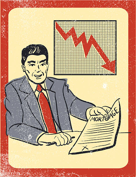 Corredor de perder dinero Mortgage - ilustración de arte vectorial