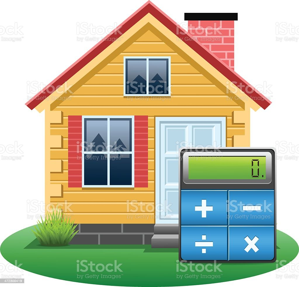 Mortgage Calculator royalty-free stock vector art