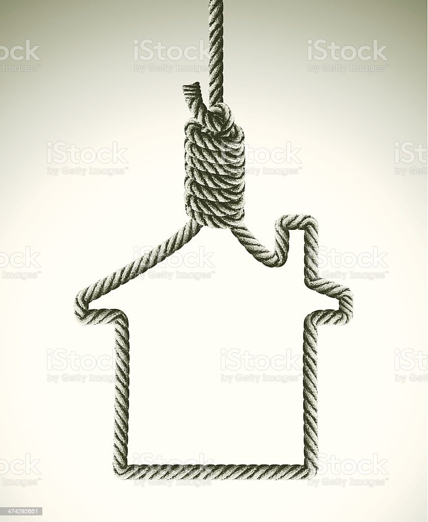 mortgage concept with hangman's noose royalty-free mortgage concept with hangmans noose stock vector art & more images of bailout