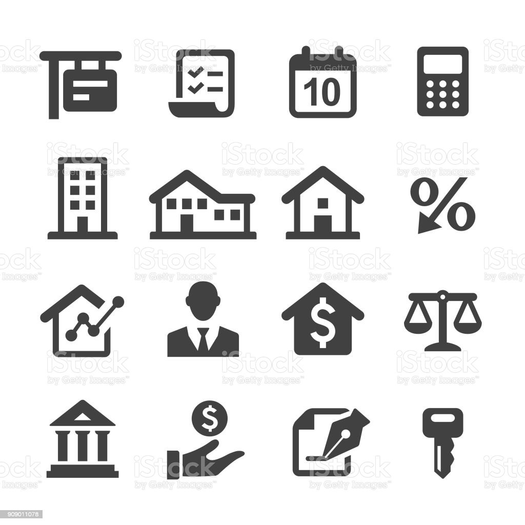 Mortgage Icons - Acme Series vector art illustration