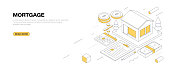istock Mortgage Isometric Banner Design 1267210701