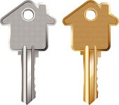 Illustration of a Key Symbolising Mortgage (Pdf(6) and Ai(8) files are included)