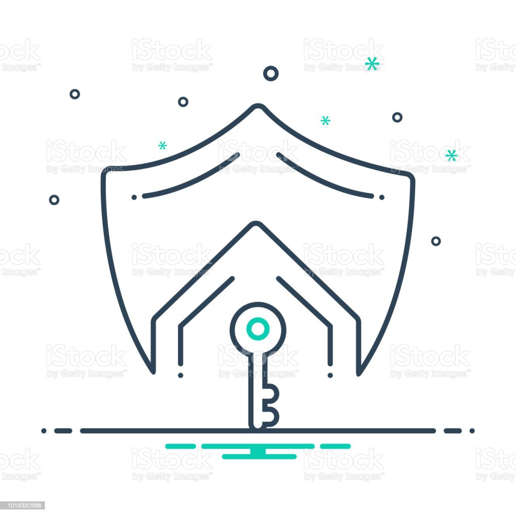 Mortgage Life Insurance Stock Vector Art More Images Of Icon