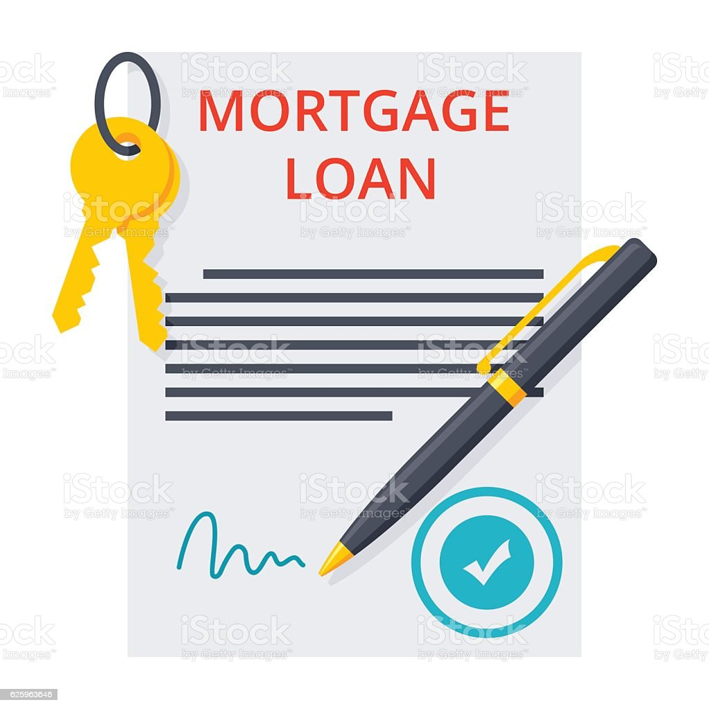 Mortgage loan Concept vector art illustration