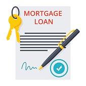 Mortgage loan Concept