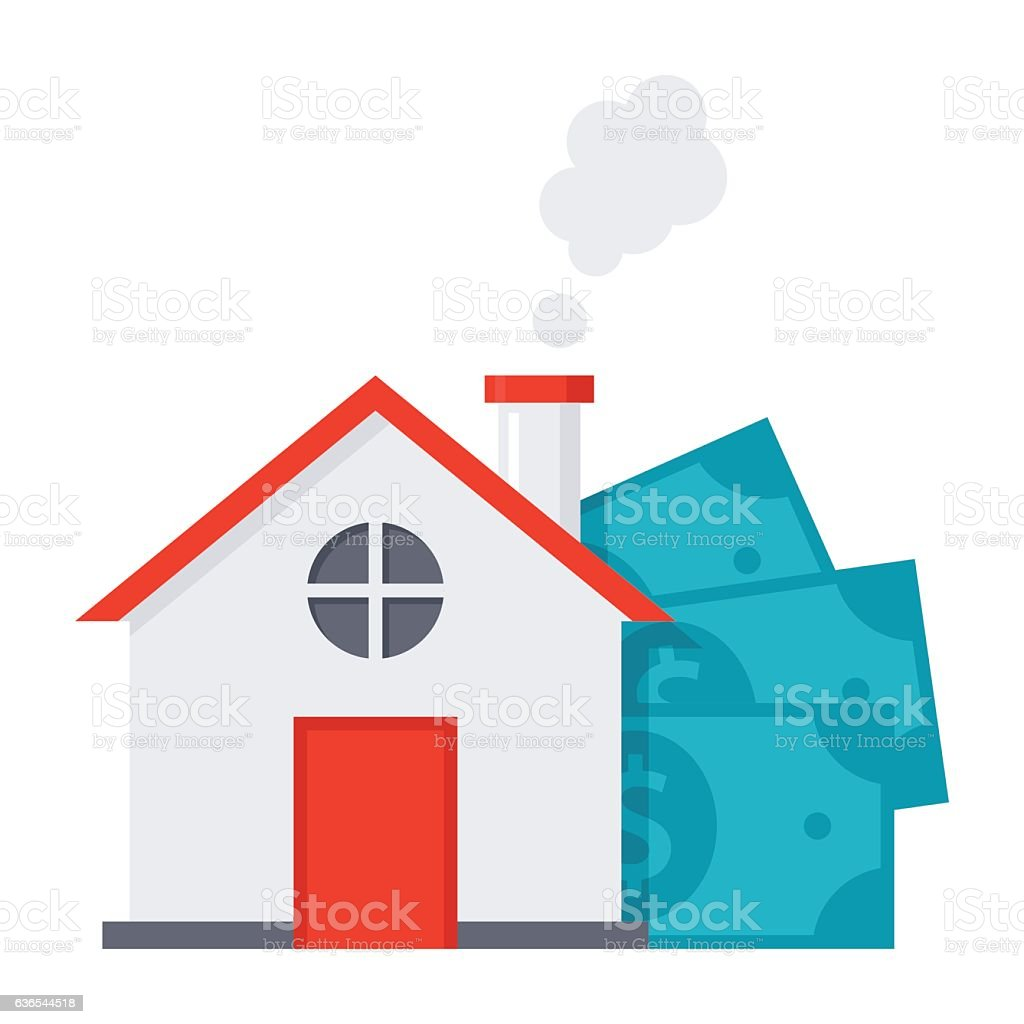 Mortgage loan concept - ilustração de arte em vetor