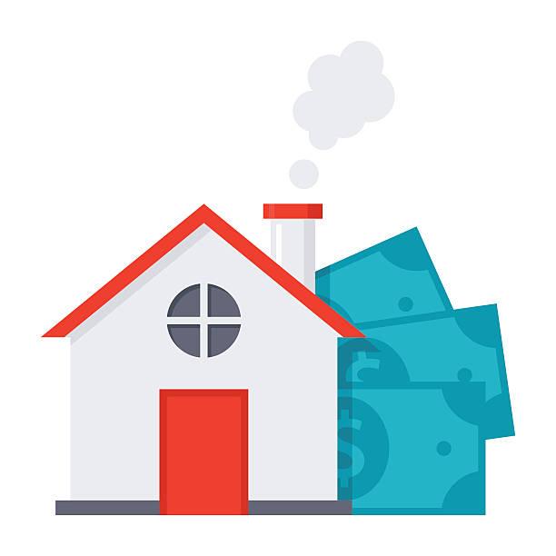 ilustraciones, imágenes clip art, dibujos animados e iconos de stock de mortgage loan concept - hipotecas y préstamos