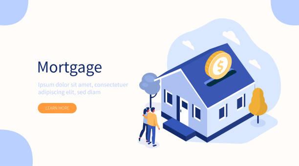 hipoteka - house stock illustrations
